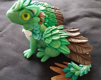 Polymer Clay dragon, Jade Dragon, Little hatchling, fantasy figure, dragon sculptures, Yako