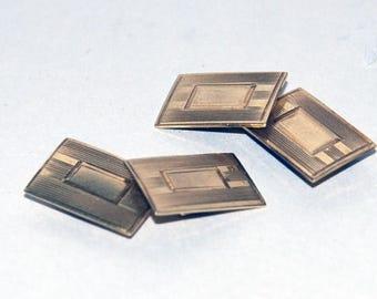 Genuine Vintage Art Deco 10K Gold Cuff Links-- Free Shipping!