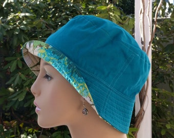 Chemo Hat Cancer Headwear Bucket Hat Reversible  LARGE