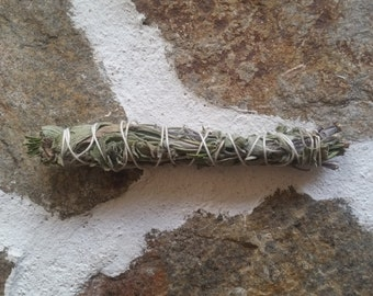 Blue sage and rosemary smudge stick, european sage smudge stick, smoke stick, purification rituals, native american ritual, ritual cleansing