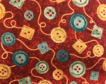 Cotton Fabric with button print