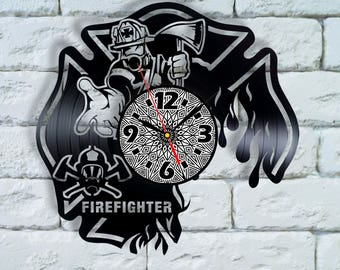 Firefighter Gifts For Women Clock Fireman Decor Ideas Firefighter Is In  Sign Name Firefighter Wedding Gift