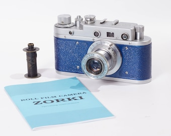 Refurbished Blue Zorki C S USSR Leica Camera Industar 22 Lens Ready to shoot Warranty