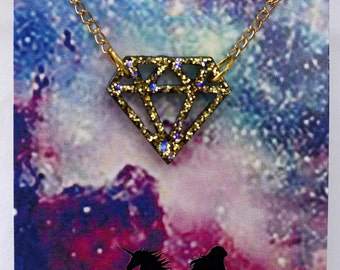 """Diamonds """"R"""" Forever Necklace"""