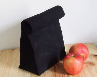 Waxed Canvas Lunch Bag, Reusable, WaterProof, Lunch Bag
