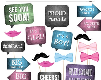 DIY Photo Booth Printables - BABY SHOWER - Gender Neutral