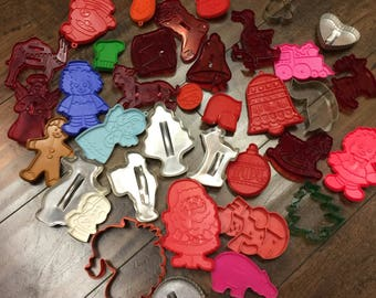 36 Holiday Cookie Cutters of Various Styles and Subjects!