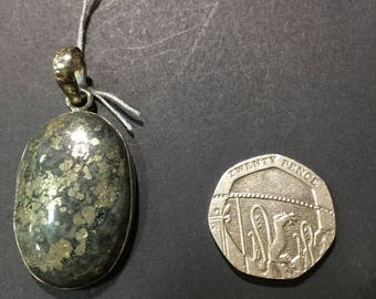 Pyrite sterling silver pendant