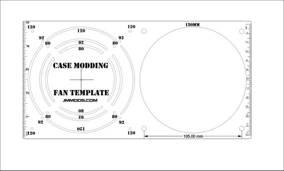 240mm Fan Hole Template Guide for computer case modding