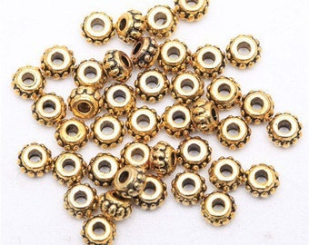 20 pretty rings, metal spacers gold antique 5 * 3mm