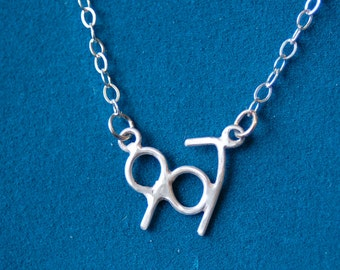 Sterling Silver Area Code Necklace