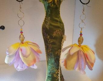 "Lilac soft flower earrings ""Nala"""