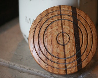 Oak & Walnut Mason Jar Lid