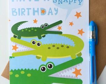 Alligator Birthday Card