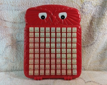 Vintage Woodland Owl Calculator for Kids Adding and Subtraction Cute 80s 90s Kids Learning