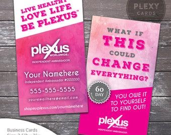 Plexus Pink Watercolor Business Card Design [DIGITAL FILES]