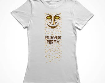 Halloween Party Scary Monster Women's White T-shirt