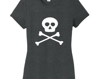 Skull And Crossbones Women's Fitted T-Shirt