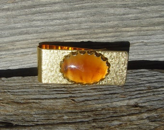 Brown Agate Cabochon Money Clip