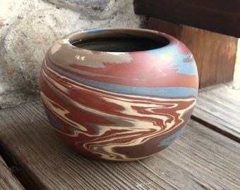 Niloak Pottery Mission Swirl Vase,  Jardiniere, American Art Pottery, Craftsman Mission Style, Vintage 1910-1930, Discounted Price