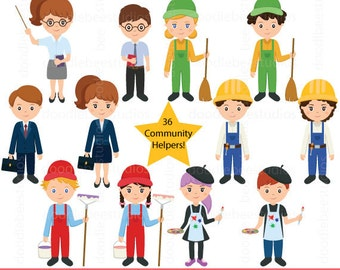 Community Helpers Clipart, Community Clipart,Career Day Clipart,Career Clip Art, Occupation Clipart, Jobs Clipart, Helpers Clipart