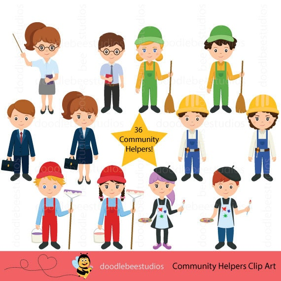 community helpers clipart community clipartcareer day rh etsy com community helper clipart images community helpers clipart teacher