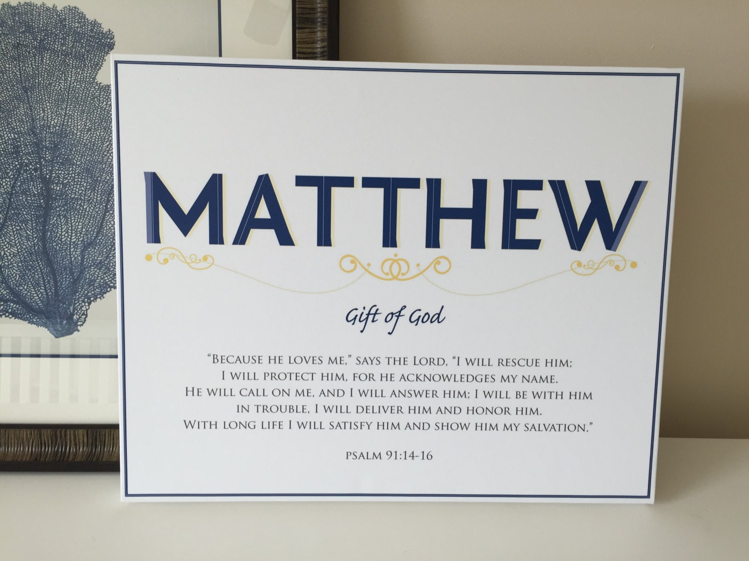 Matthew name art canvas with name meaning and scripture verse 16x20 1 negle Images