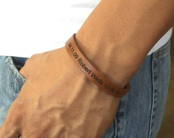 FREE SHIPPING-Bracelets for men,Men Engraved Bracelet,Personalized Men Bracelet,Custom Men Bracelet,Men Leather Bracelet,Unisex Personalized