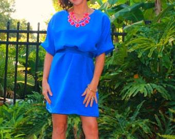 Women Dolman Dress pdf sewing pattern, dolman sleeves, sewing pattern, Seamingly Smitten, Christmas Dress pattern, date night dress