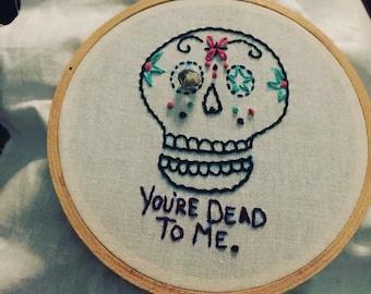 Sugar Skull - Embroidery
