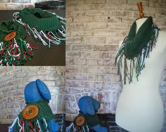 Garland Green Scarf with matching pet scarf