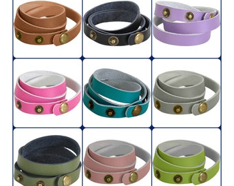 Leather Wrap Bracelet - Leather bracelet blank - leather cuff blank - wrap bracelet - leather bracelet wholesale