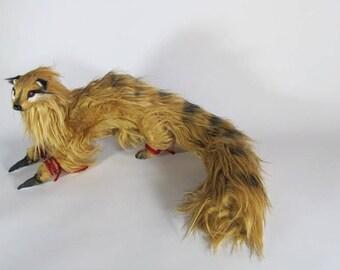Kamaitachi the Sickle Weasel poseable art doll OOAK.