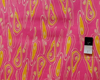 Tina Givens TG83 Opal Owl Grain Pink Cotton Fabric 1 Yd