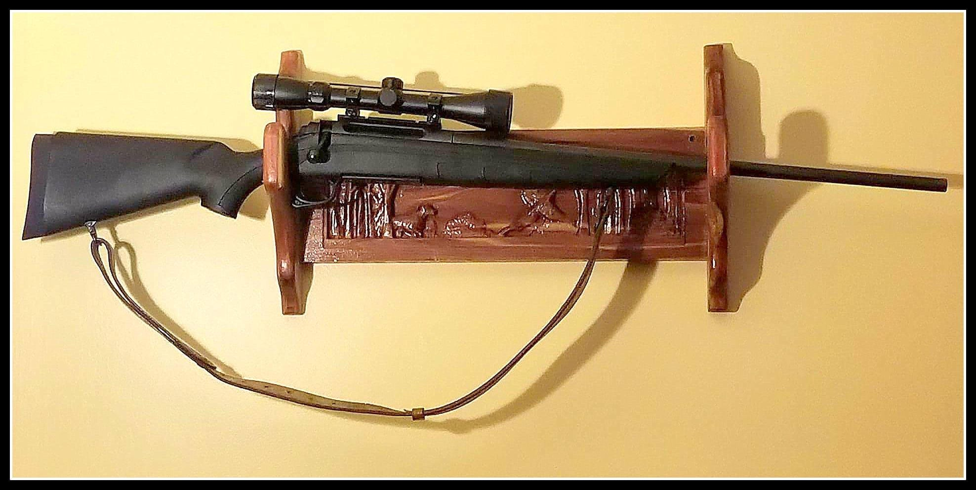 Western Red Cedar Gun Display Rack Gun Display Gun Display