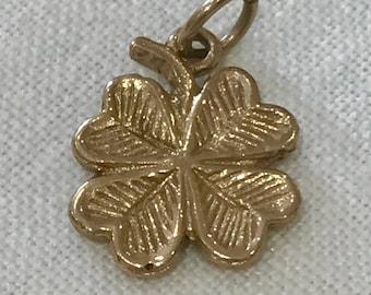 A Four Leaf Clover Good Luck Charm by Bernard Instone