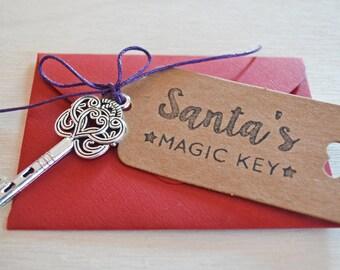 Santa's Magic Key with Tag and Envelope