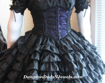 DDNJ Choose Color Renaissance Taffeta Super Mini Petticoat Crinoline Pirate Gypsy Wedding Plus Custom Made  ANY Size Anime Costume Lolita