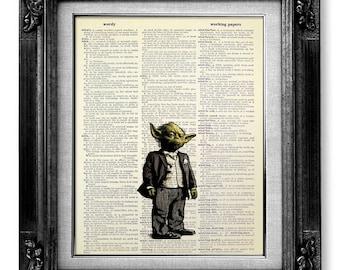 STAR WARS Poster, Star Wars Print, Star Wars Gift, Star Wars Decor Star Wars Wall Art, Star Wars Painting Wall Decor Room Decor YODA Artwork