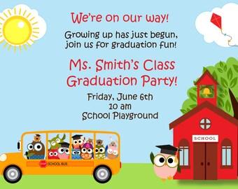 Kindergarten Graduation Invitation Graduation Preschool