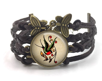 Sailor Jerry Bracelet, Sailor Jerry Jewelry, Rockabilly Bracelet, Sailor Jerry, Retro Bracelet, Pinup bracelet, tattoo, gift for her, 14