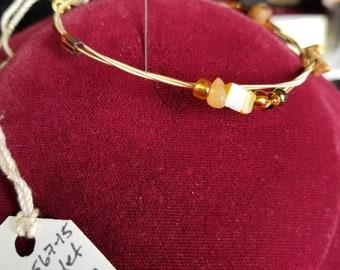 Bracelet- wire and stone