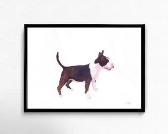 Giclée Limited Edition Bull Terrier Print made from original Oil Painting