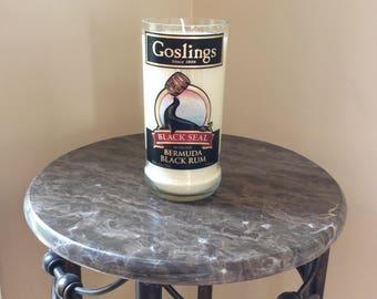 Goslings Black Seal Rum Bottle Candle