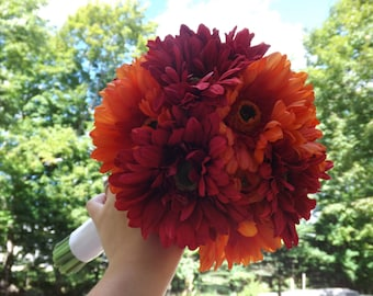 Gerbera daisy bridal bouquet, pick your own colors