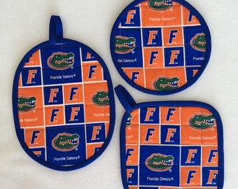 Florida ' Gators '  hot pads, pot holders
