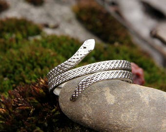 silver Jewelry snake Jewelry Boho ring Boho Jewelry silver ring snake ring Hippie ring Gypsy ring Animal ring Tribal ring Double Ring