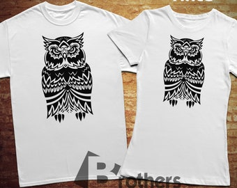 Owl, T-shirt, 100% cotton, for woman style, unisex style
