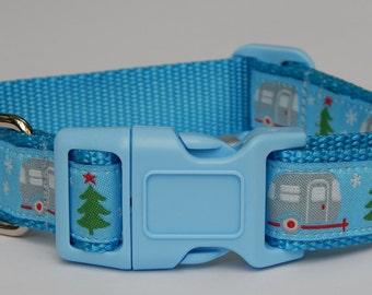 Holiday Dog Collar,  Winter Dog Collar, Christmas Dog Collar, Adjustable Dog Collar