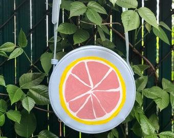 Grapefruit Small Circle Bag